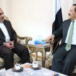 وزير الخارجية يلتقي سفير الجمهورية الإسلامية الإيرانية في صنعاء